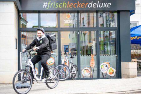 SUSHIdeluxe | Schnelle Lieferung per E-Bike