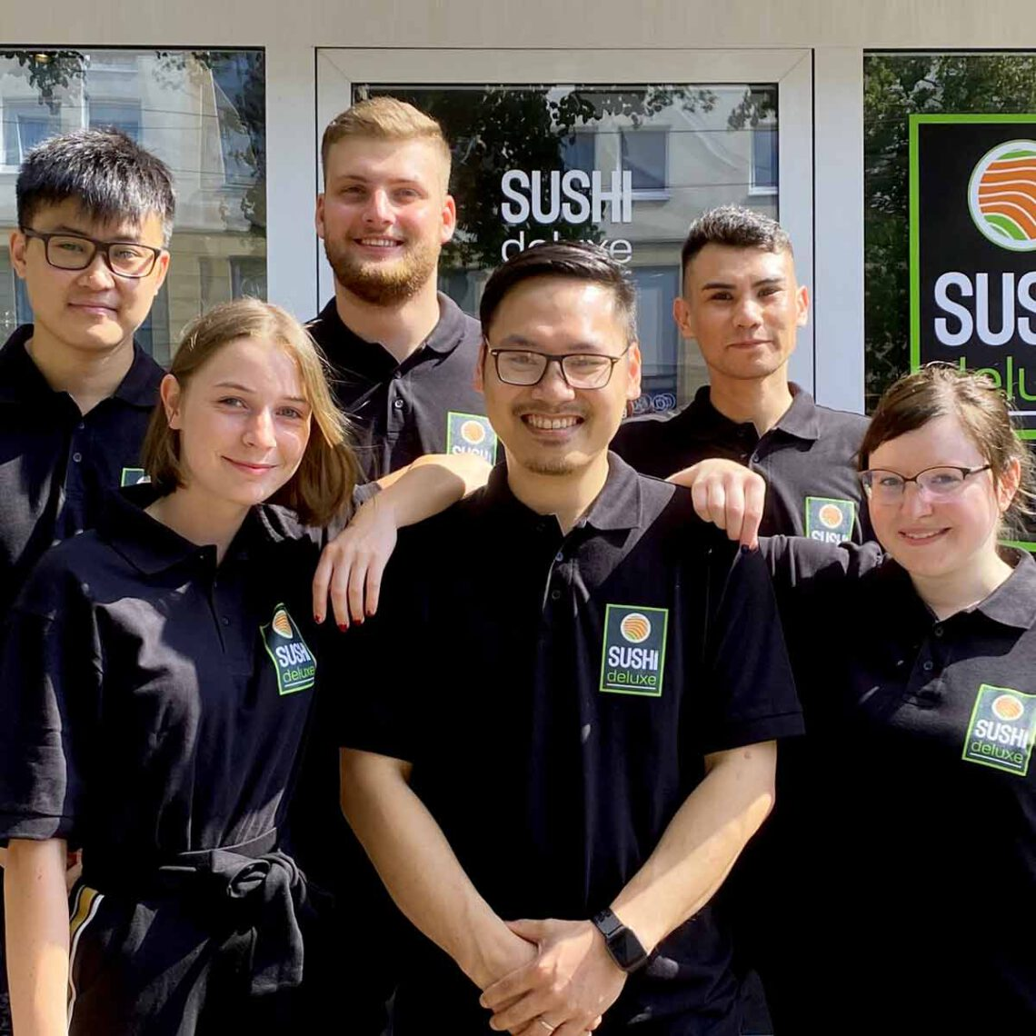 Das SUSHIdeluxe Team in Magdeburg